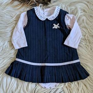 Tartine et Chocolat dress w/matching bodysuit 6M